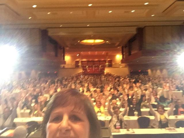 """And our President, Decalie Brown, made sure we got a """"selfie"""" of the whole crowd during her President's Address."""